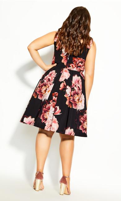 Heavenly Floral Dress - black
