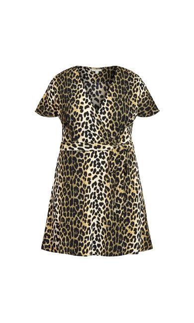 Simply Wrap Dress - animal