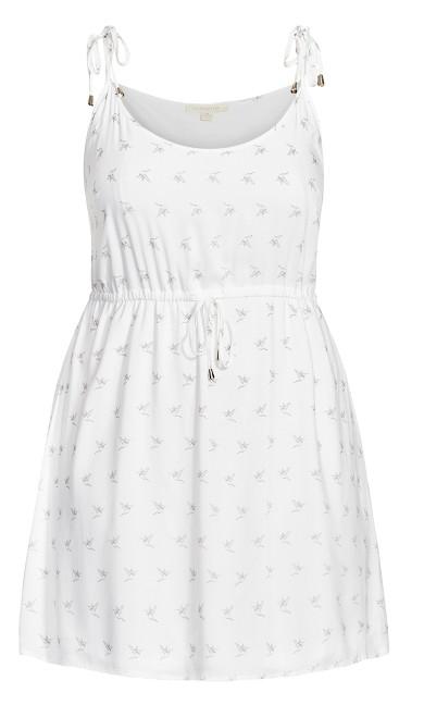 Sweetly Tied Dress - white bird