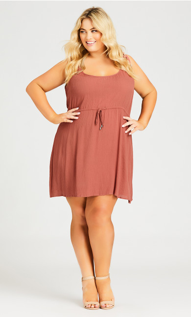 Sweetly Tied Dress - copper