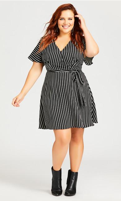 So Simple Dress - black stripe