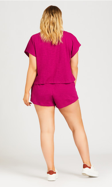 Simple Day Short - fuchsia
