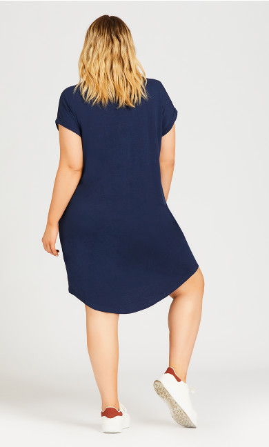 Summer Day Dress - navy