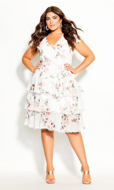 Plus Size Lady Ascot Dress - ivory