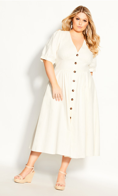 Plus Size Sunset Stroll Dress - ivory