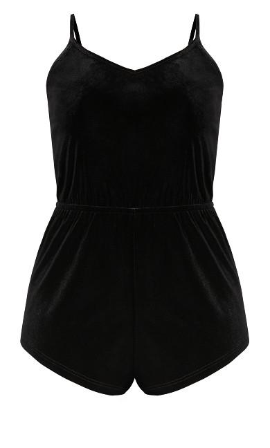 CCX Velour Playsuit - black