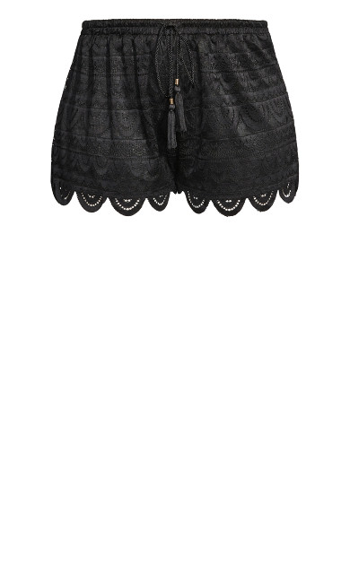 Lace Glamour Short - black