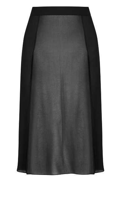 Maxi Split Skirt - black