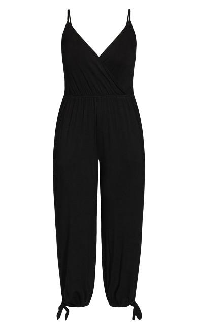Knot Hem Jumpsuit - black