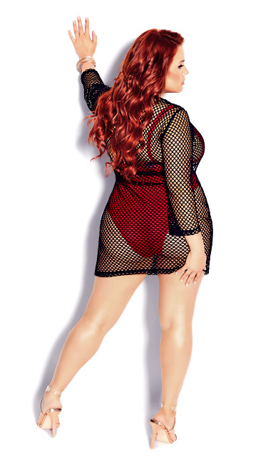 Mesh Mini Dress - black