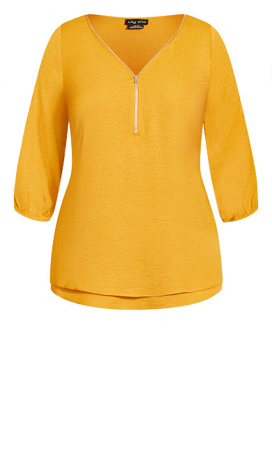 Zip Fling Daze Top - butterscotch