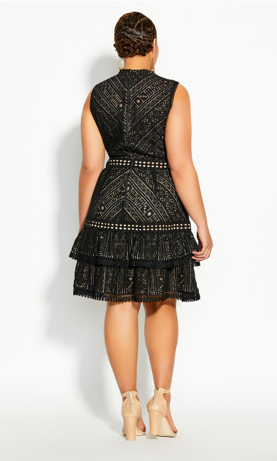 Loving Lace Dress - black