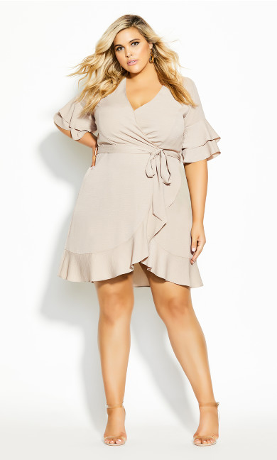 Plus Size Flutter Daze Dress - doe