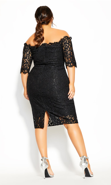 Lace Love Dress - black