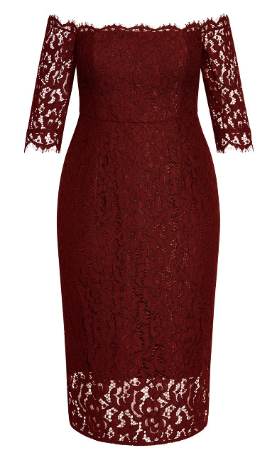 Lace Love Dress - bordeaux