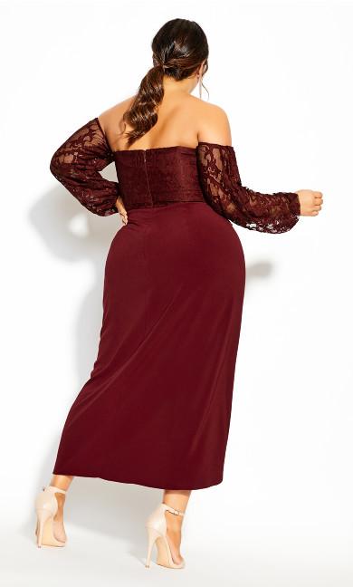 Romantic Rosa Maxi Dress - bordeaux