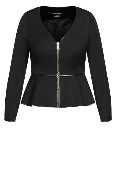 Sweet Plunge Jacket - black