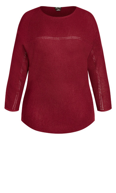 Romance Wool Blend Sweater - sangria