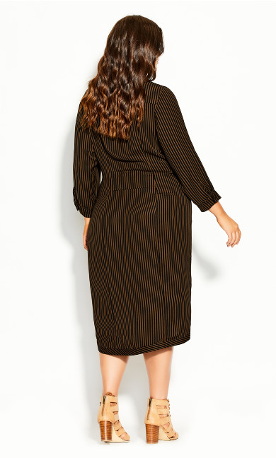 Twisted Stripe Dress - copper