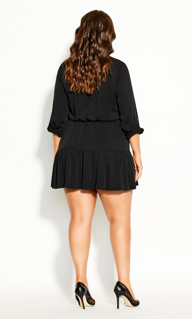 Take Me Out Dress - black