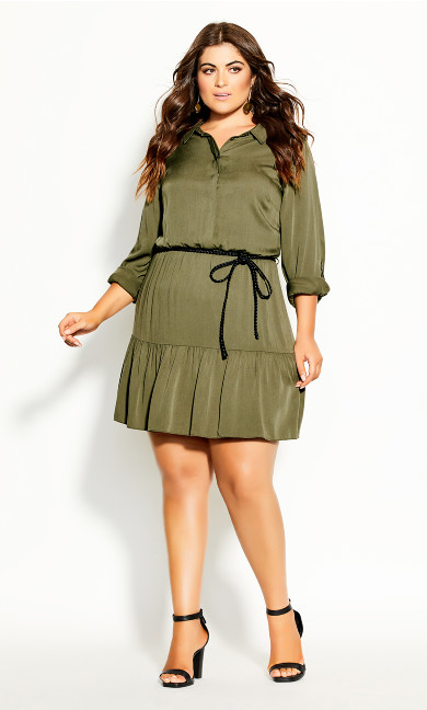 Plus Size Take Me Out Dress - thyme