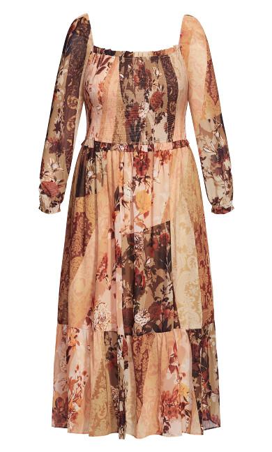 Paisley Puzzle Dress - ochre