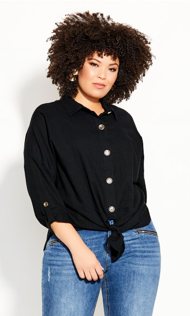 Plus Size Urban Explorer Top - black