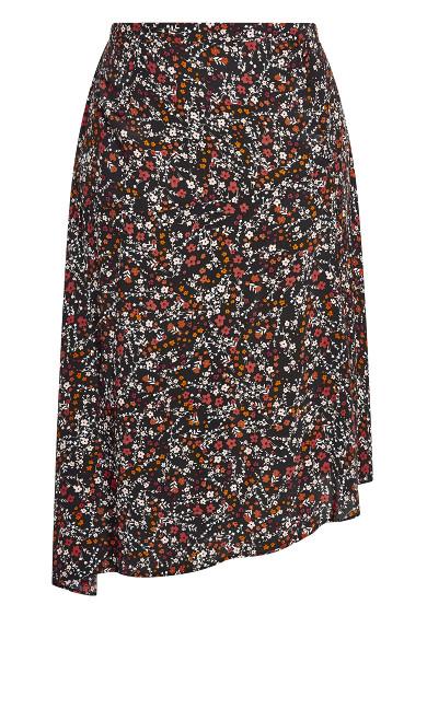 70's Ditsy Skirt - black
