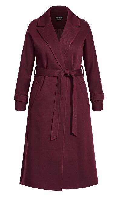 Clean Tie Coat - plum