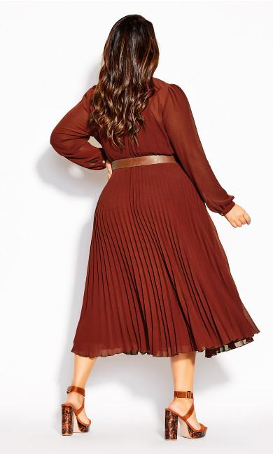 Love Pleat Dress - henna