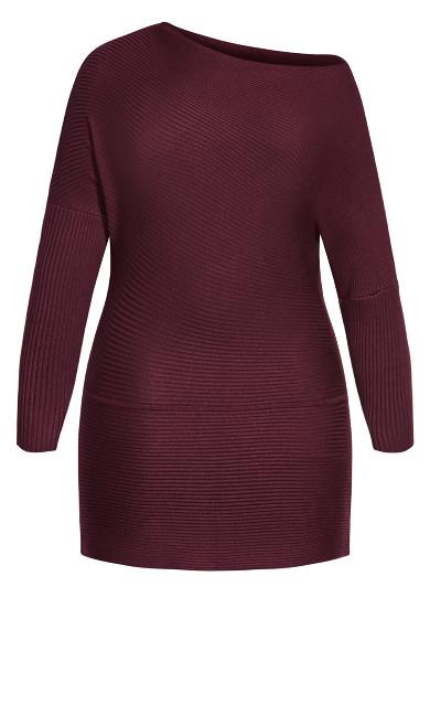 Fitter Rib Sweater - plum