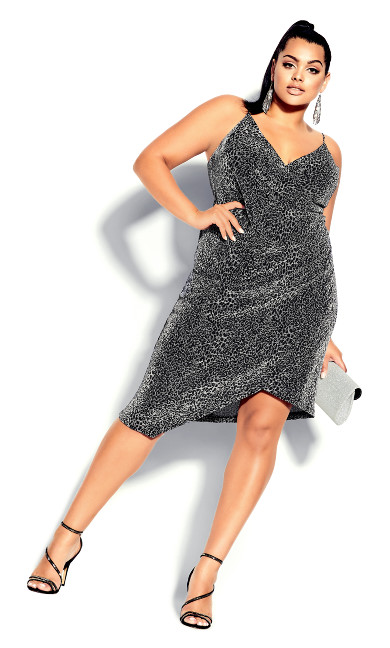 Plus Size Madam Chelsea Dress - silver