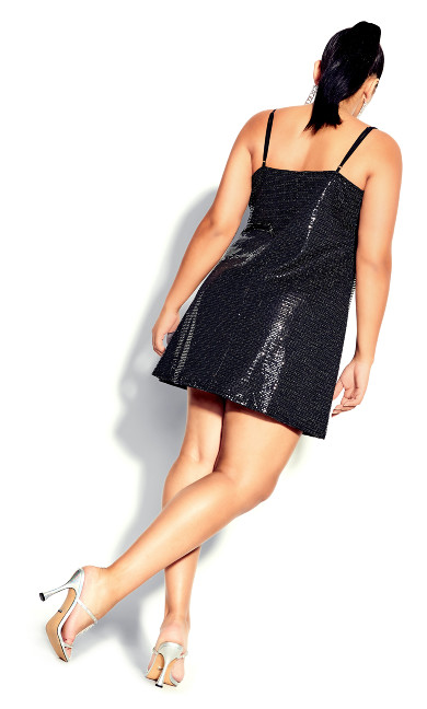 Disco Fever Dress - black