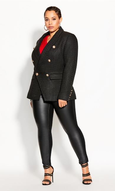 Plus Size Royale Jacket - black