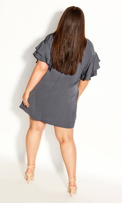 Double Frill Dress - smoke