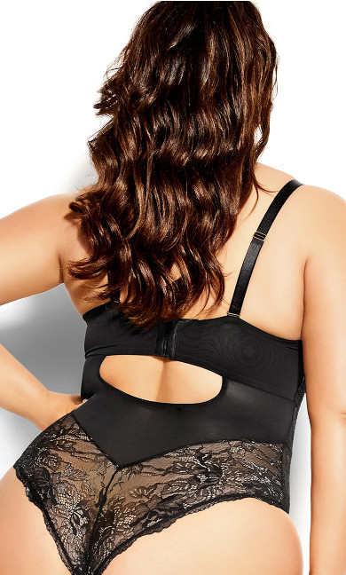 Boudoir Underwire Bodysuit - black
