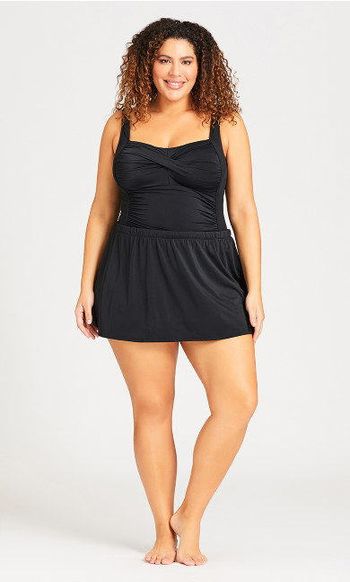 Plus Size Basic Skirt - black