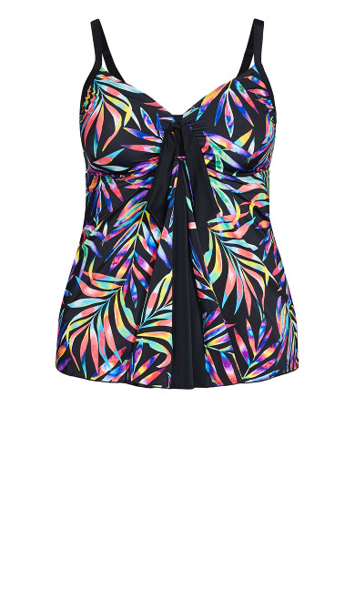Prism Print Tankini Top - black