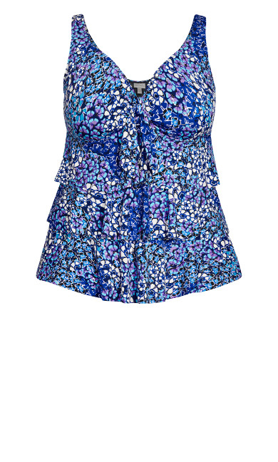 Lourdes Tankini Top - blue