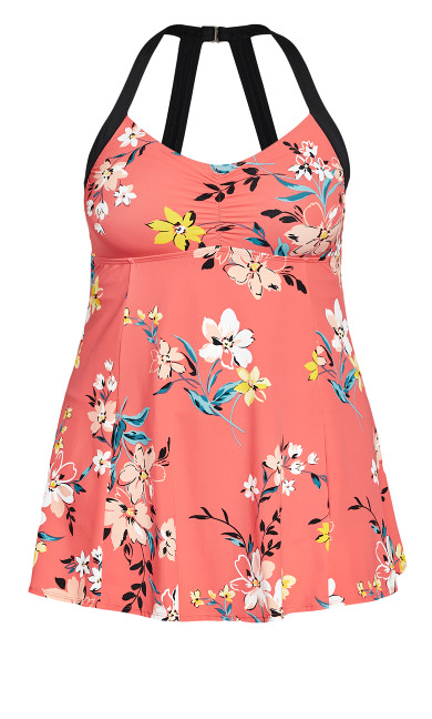 Florentine Swim Dress - coral