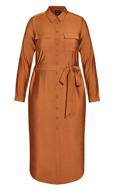 Belted Love Dress - ginger