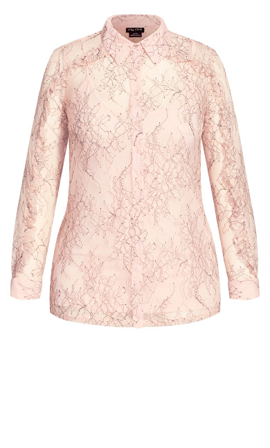 Ruffled Lace Top - pink