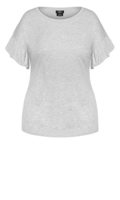 Cutie Sleeve Top - grey marle