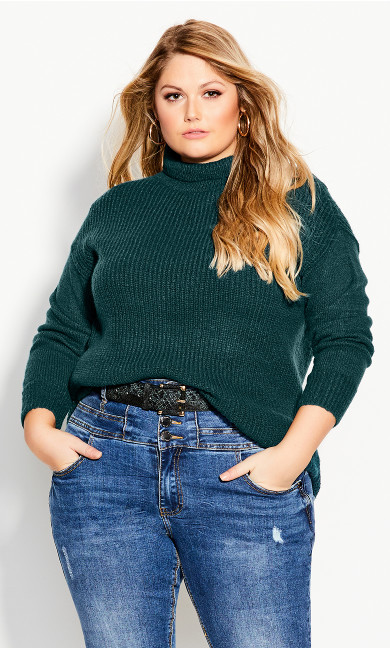 Plus Size Simply Mod Jumper - alpine