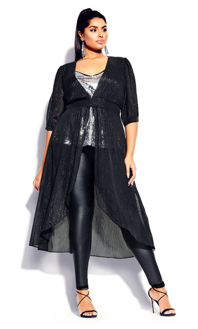 Plus Size Miami Glow Jacket - black