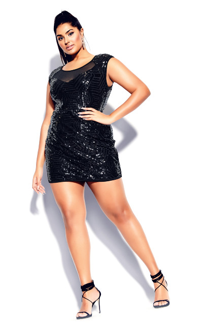 Plus Size After Glow Dress - black