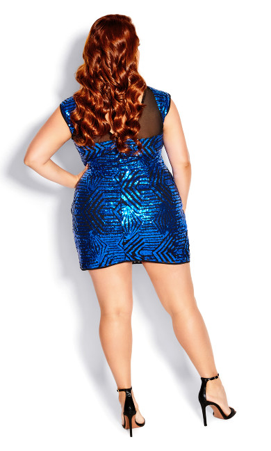 After Glow Dress - electric blue