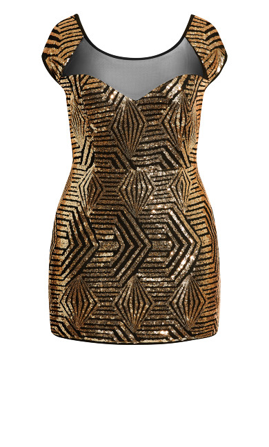 After Glow Dress - gold