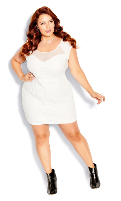 Plus Size After Glow Dress - white