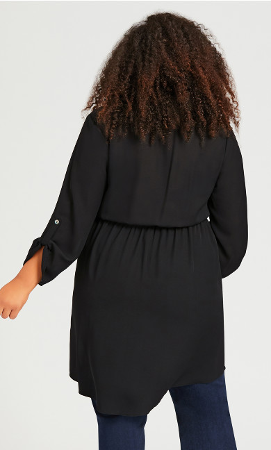 Tie Waist Blouse - black